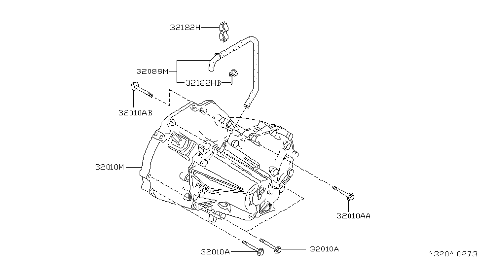 1995 Nissan Maxima Manual Transmission, Transaxle & Fitting