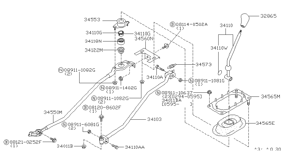 1998 Nissan Maxima Transmission Control & Linkage