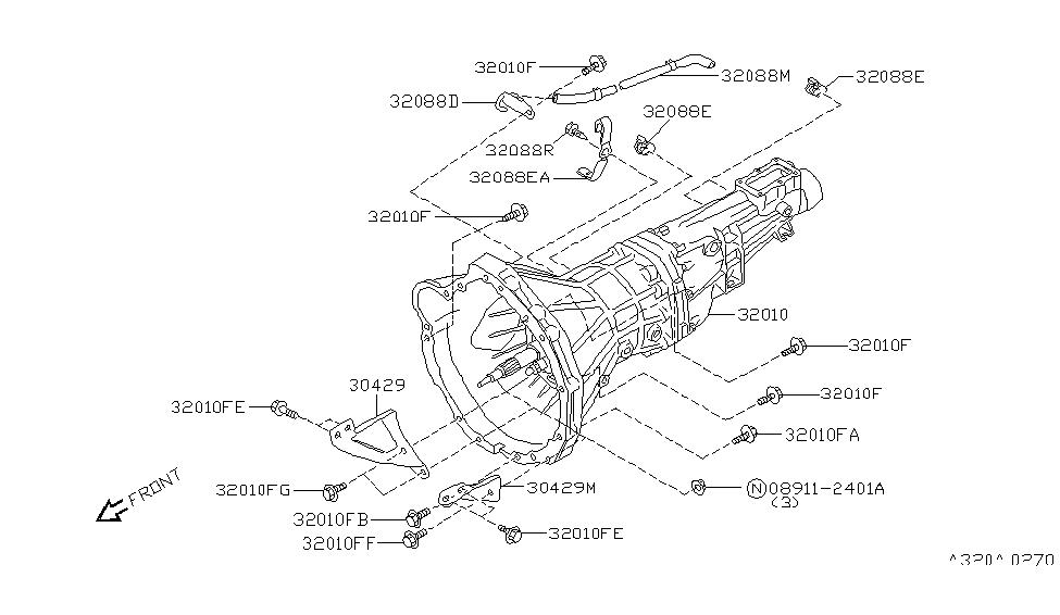 1995 Nissan 240SX Manual Transmission, Transaxle & Fitting