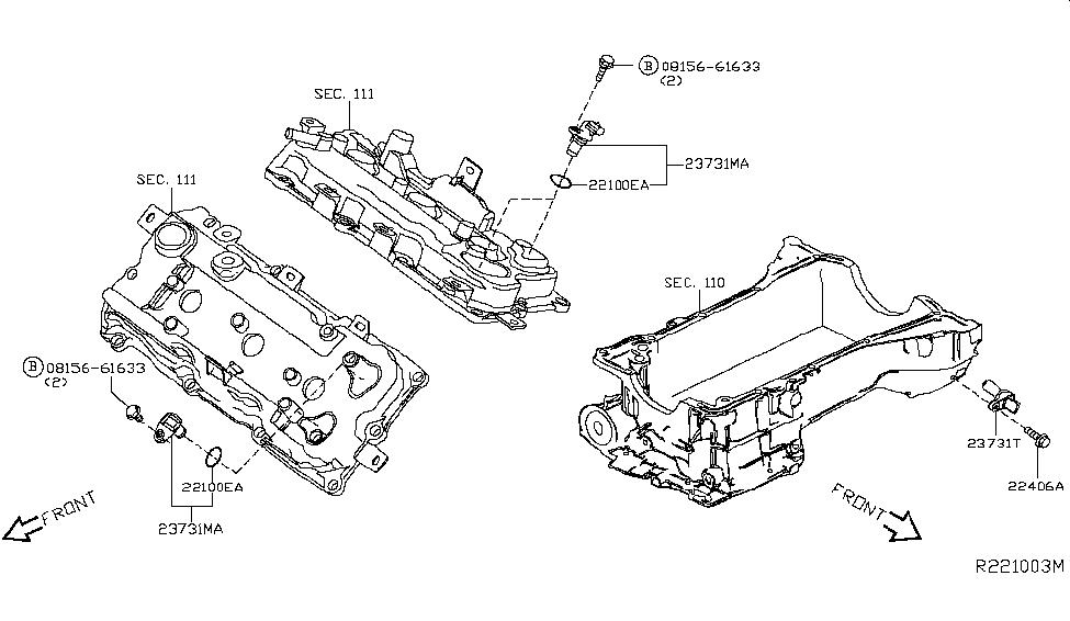 2017 Nissan Altima Sedan Distributor & Ignition Timing Sensor
