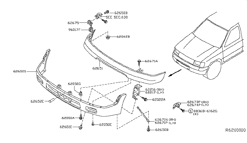 [DIAGRAM] Nissan Frontier Bumper Diagram FULL Version HD