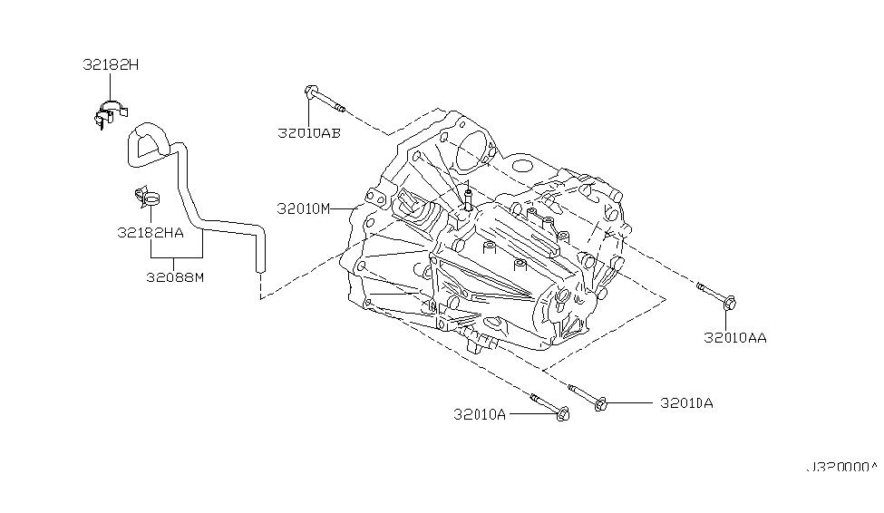 2000 Nissan Maxima Manual Transmission, Transaxle & Fitting