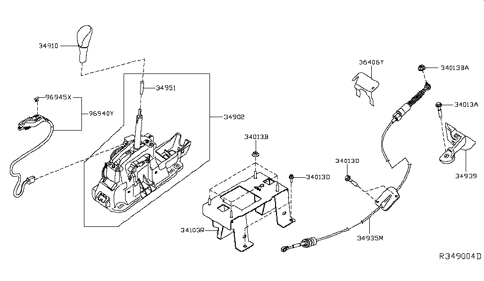 2017 Nissan Maxima Auto Transmission Control Device