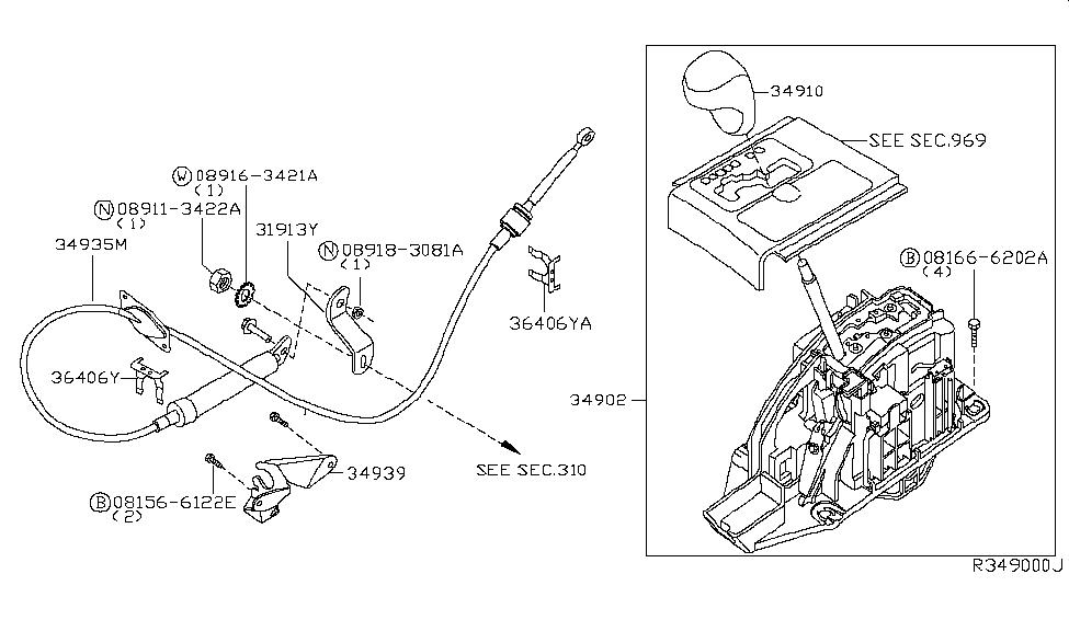 2004 Nissan Armada Auto Transmission Control Device