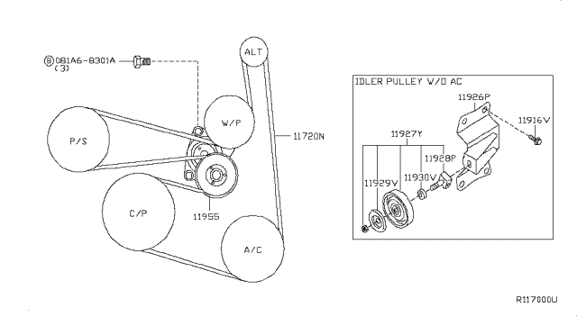 2002 Nissan Altima 2 5 L Serpentine Belt Diagram