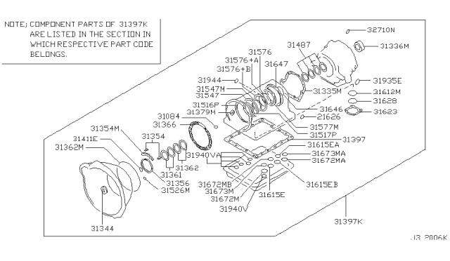 2005 Nissan Titan Gasket & Seal Kit (Automatic)