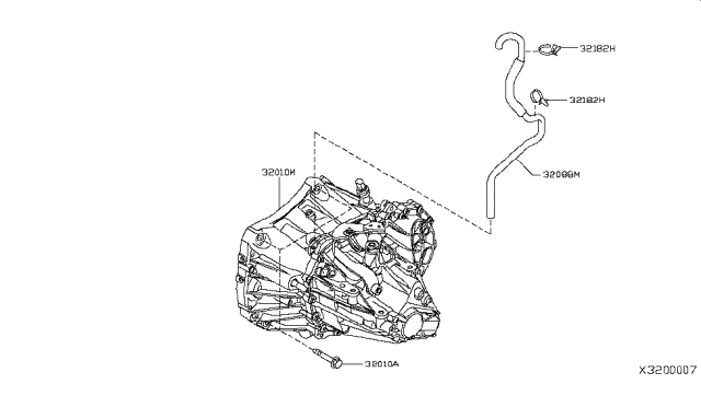 2007 Nissan Versa Sedan Manual Transmission, Transaxle