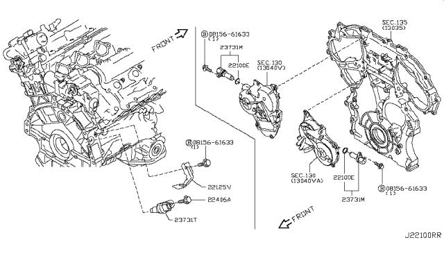2018 Nissan 370Z Distributor & Ignition Timing Sensor
