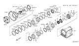 2016 Nissan Titan Torque Converter,Housing & Case