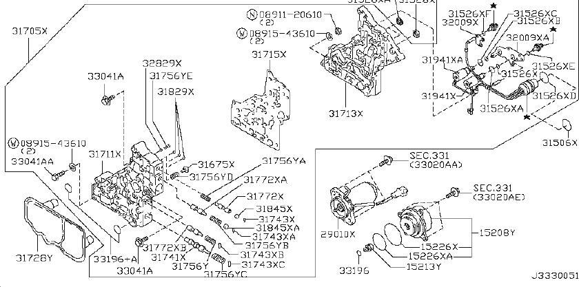 2005 Nissan Element Oil Filter. CONTROL, VALVE, AUTO