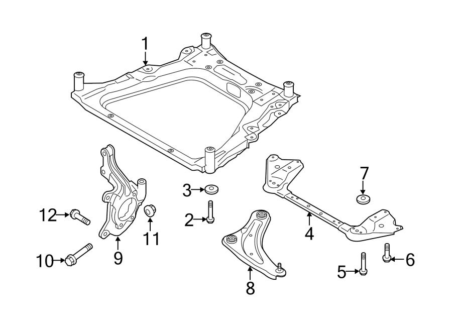 Nissan Juke Engine Cradle Brace (Front). W/S, SL, SV
