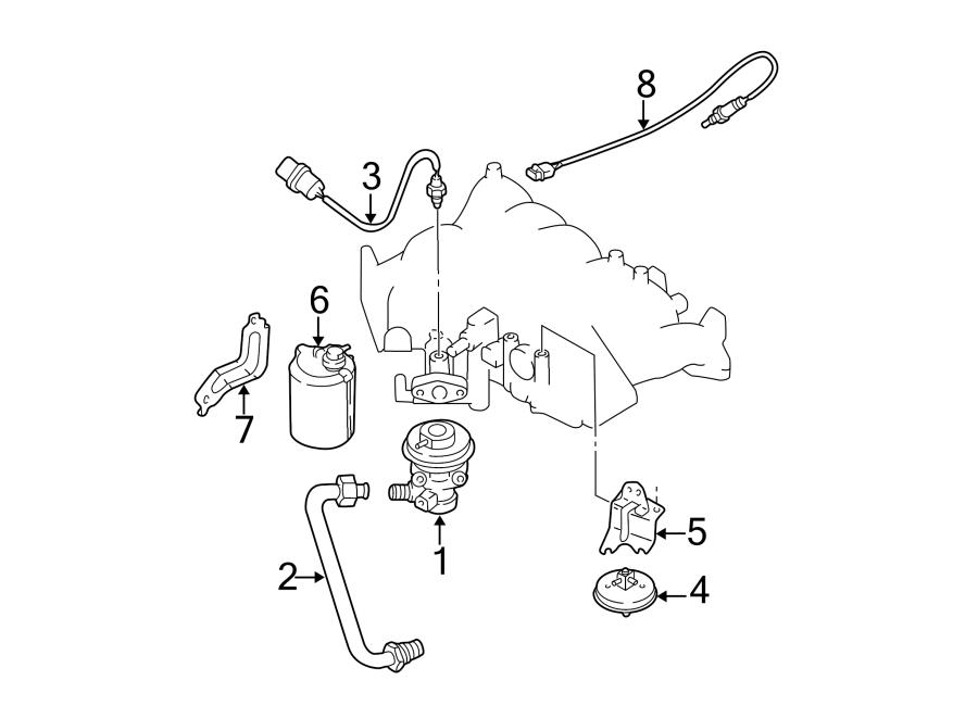 Nissan Pathfinder Oxygen Sensor. EMISSION, Repair, Make