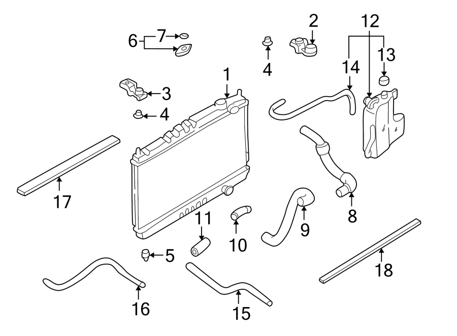 Nissan Frontier Radiator Coolant Hose (Upper, Lower). 3.3