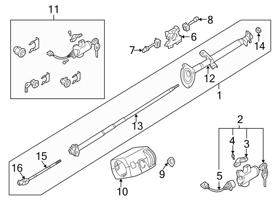 Nissan Frontier Windshield Wiper Switch. STEERING, COLUMN