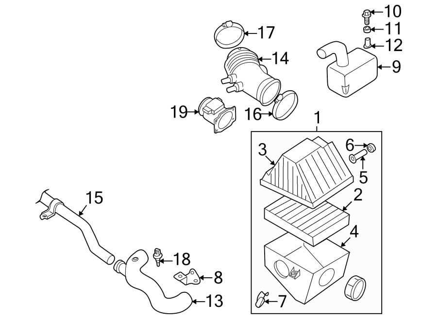 Nissan Xterra Engine Air Intake Resonator. 3.3 LITER