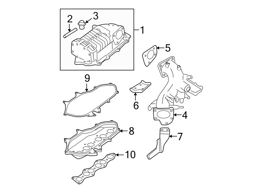 Nissan Frontier Gasket. PLENUM. 3.3 LITER, to manifold
