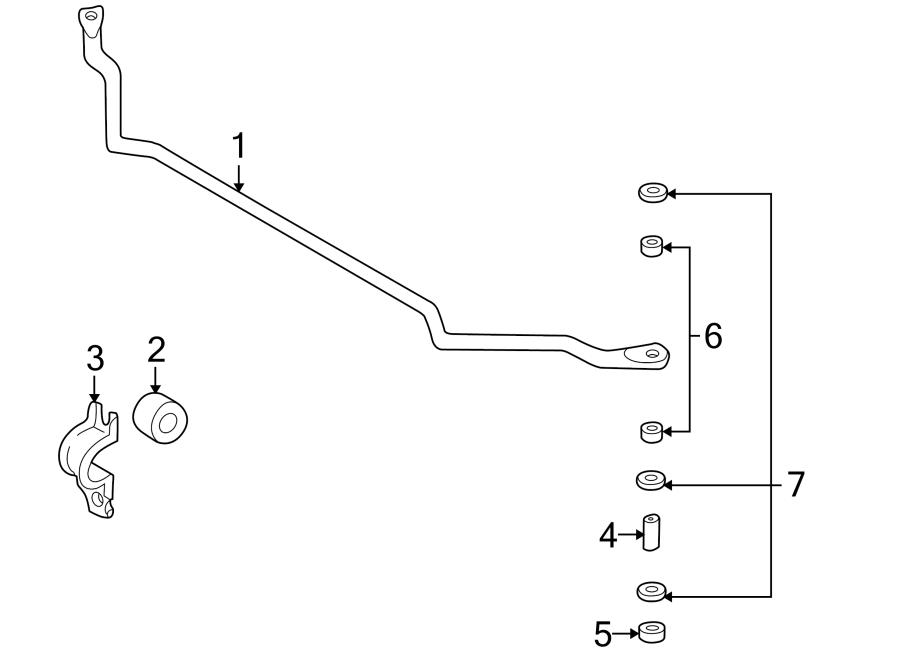 Nissan Xterra Suspension Stabilizer Bar Bracket. Liter