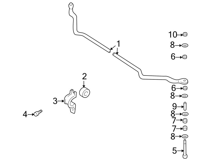 Nissan Xterra Suspension Stabilizer Bar Link Nut. 2WD. 4WD