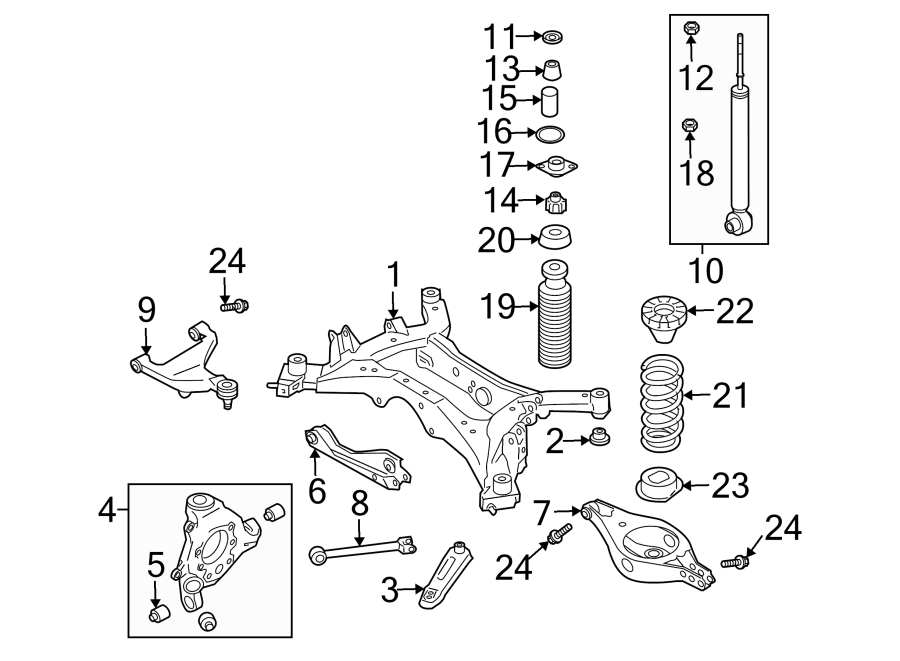 Nissan Murano Suspension Control Arm Bolt. Lower, Outer