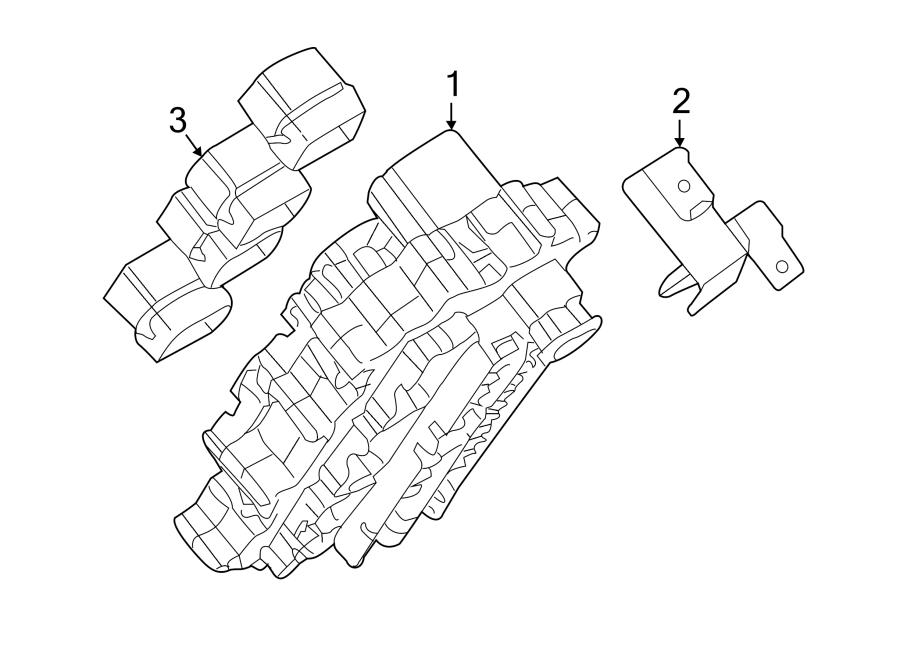 Nissan Murano Junction Block. INSTRUMENT PANEL. Telematics