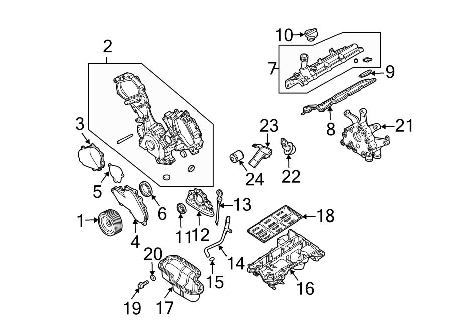 Nissan Quest Engine Crankshaft Seal (Rear). Armada