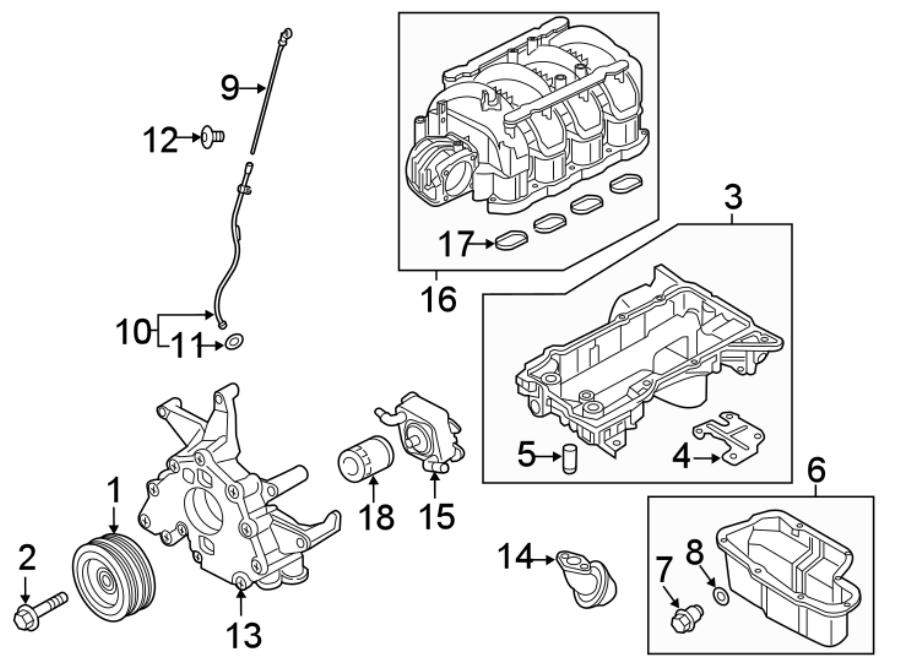 Nissan Titan XD Engine Crankshaft Pulley. 2017-19. 5.6