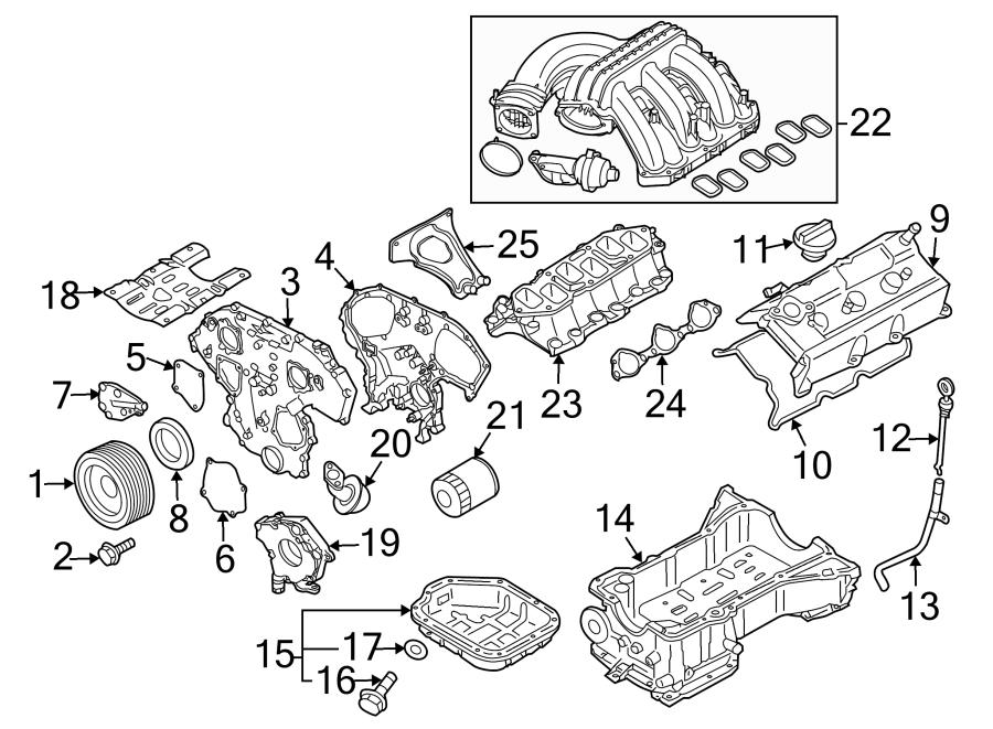Nissan Altima Engine Crankshaft Seal. LITER, BEARINGS