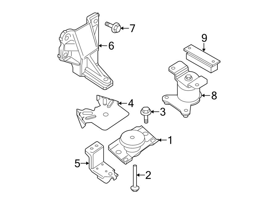 Nissan Frontier Manual Transmission Mount (Rear