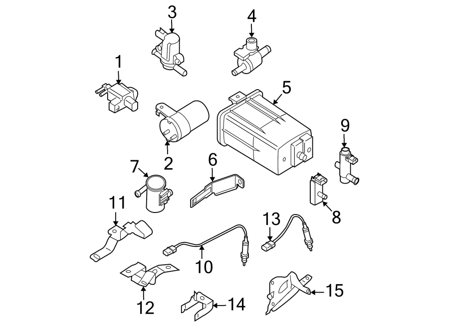 Nissan Frontier Oxygen Sensor Bracket. LITER, Auto, Trans