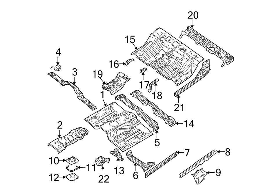 Nissan Frontier Floor Pan Reinforcement. Manual, Trans