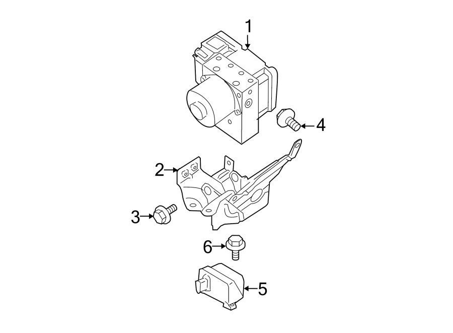 Nissan Pathfinder Abs hydraulic assembly. Control, light