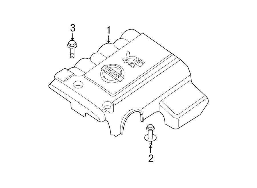 Nissan Pathfinder Stud. Engine. Resonator. Cover. Air