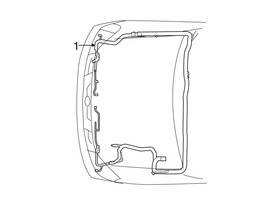 Nissan Xterra Engine Wiring Harness. S model, 2WD. X model