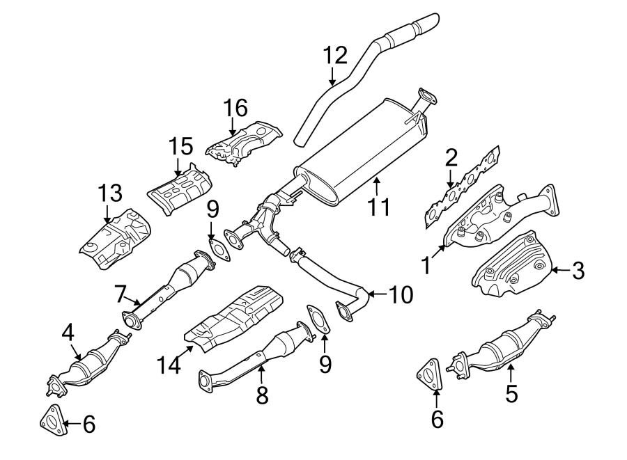 Nissan Xterra Catalytic Converter. Right, EXHAUST, LITER