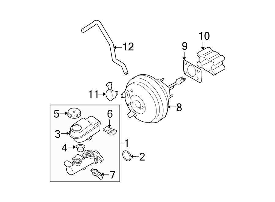 Nissan Xterra Brake Master Cylinder. Auto, Panel, Trans