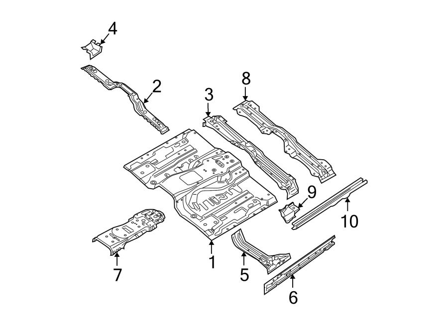 Nissan Xterra Floor Pan. Manual, Trans, SUNROOF