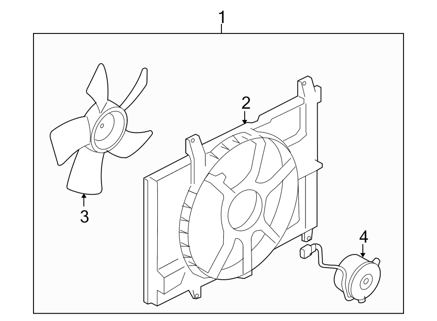 Nissan Cube Engine Cooling Fan Assembly. Radiator