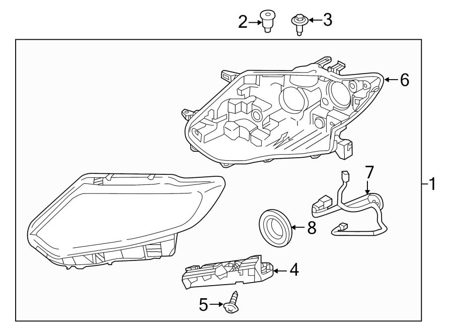 Nissan Rogue Headlight Wiring Harness. HALOGEN, all. LED