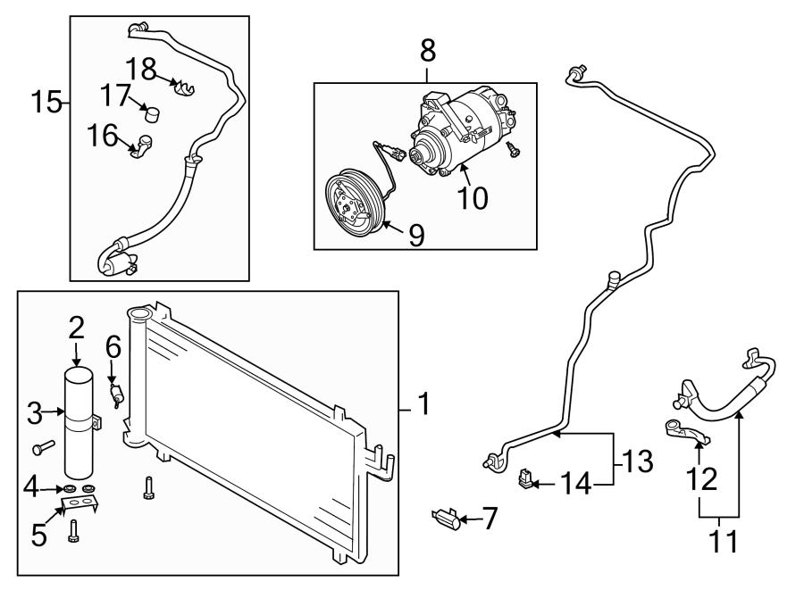Nissan 350Z A/c compressor clutch. Air, conditioner, lines
