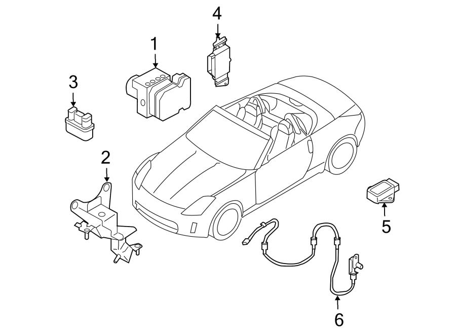Nissan 350Z Abs control module. Light, repair, warning