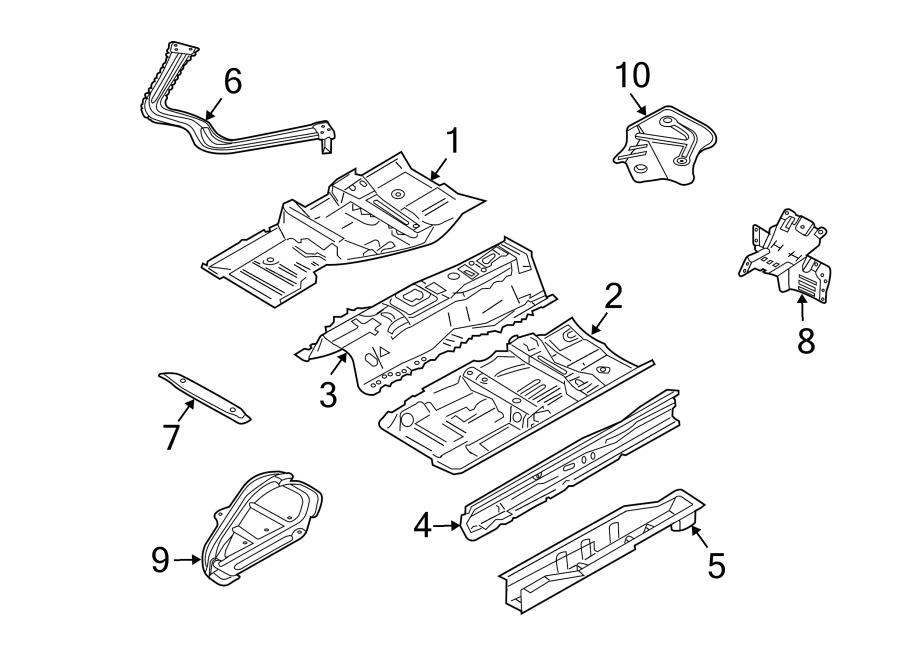 Nissan 350Z Floor Pan Reinforcement. CONVERTIBLE,. COUPE
