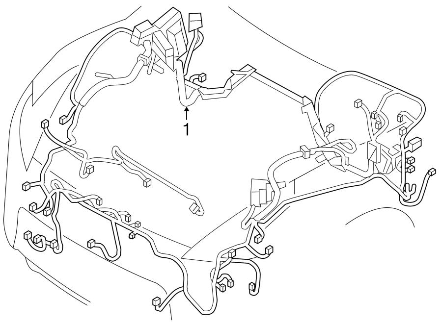 Nissan 370Z Engine Wiring Harness. Sport, Manual, Trans