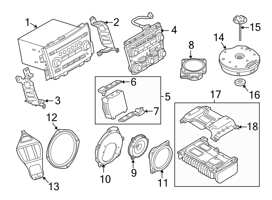 Nissan 370Z Speaker. W/o Bose audio. Left, Right