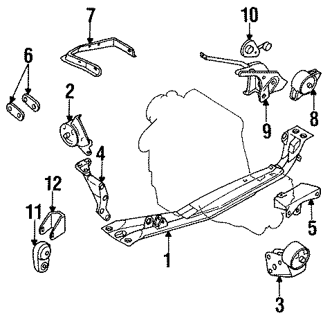 Nissan Sentra Insulator. Mount. (Rear). Engine