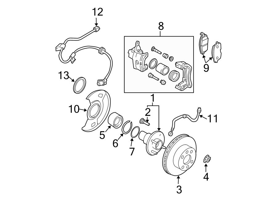 Nissan Sentra Wheel Bearing. SUSPENSION, Brake, CONTROL