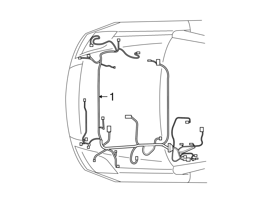 Nissan Sentra Engine Wiring Harness. SE-R models, auto