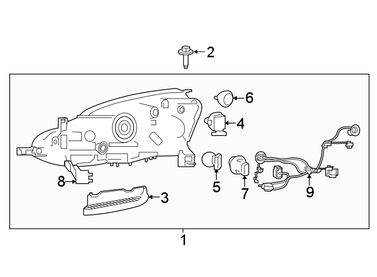 Nissan Sentra Headlight Wiring Harness. 2016-19, W/LED