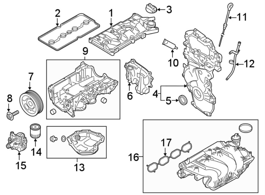 Nissan Sentra Engine Timing Cover. 1.6 LITER. Juke; w/o