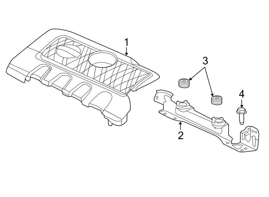 Nissan Sentra Engine Cover Grommet. 1.8 LITER. TRANSAXLE