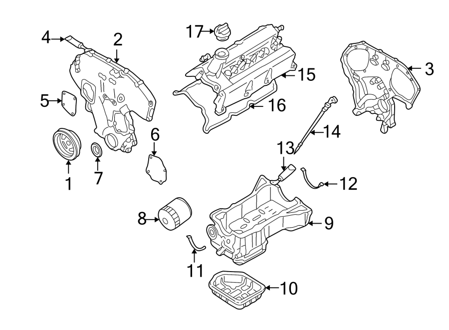 Nissan Altima Engine Timing Cover. Inner, BEARINGS